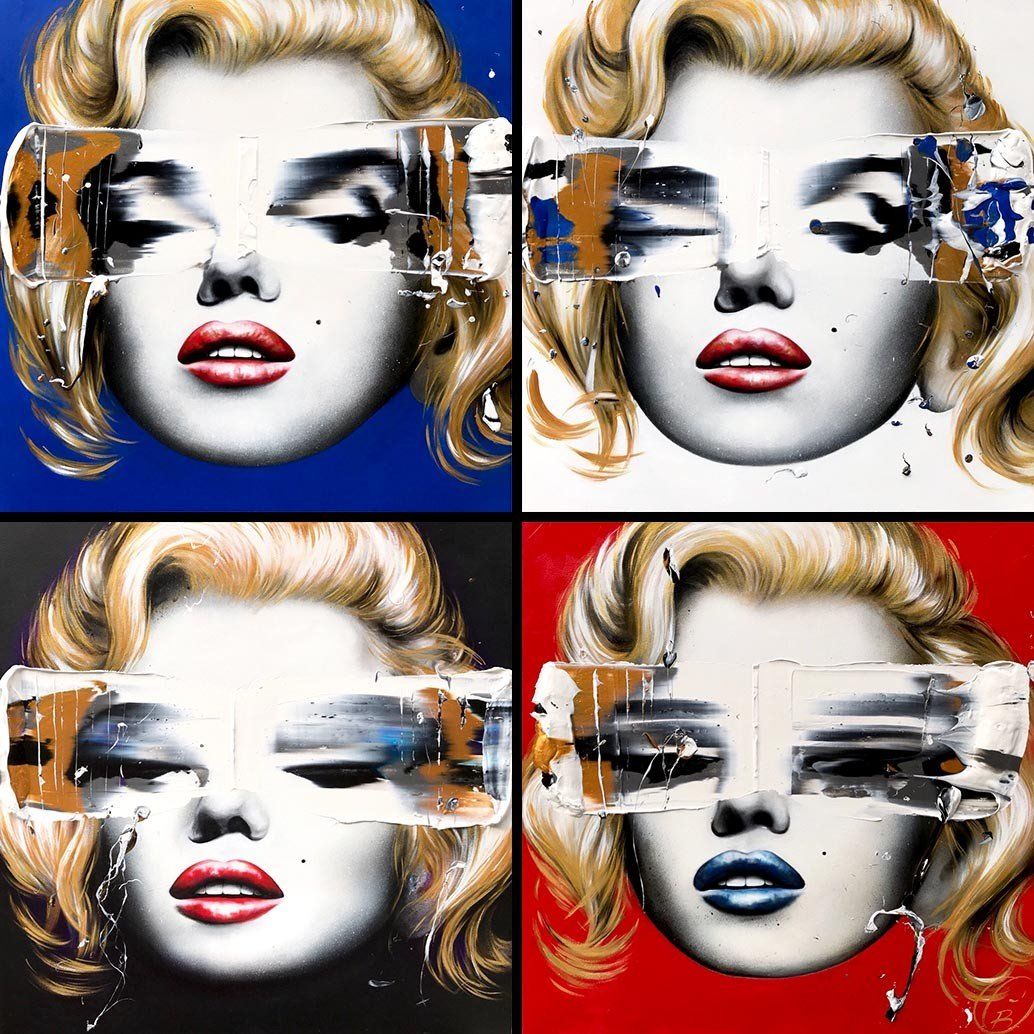 pop art, marilyn monroe à la Andy Wahrol